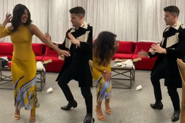 priyanka chopra husband nick jonas dances on desi beats