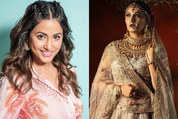 hina khan praises to sapna choudhary bridal look