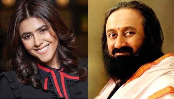 ekta kapoor asks sri sri ravishankar about her son in heart to heart talk