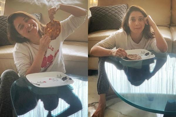 tamanna bhatia enjoys mom hand made paratha