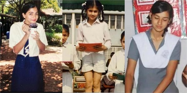 taapsee pooja hegde and deepika school days photos