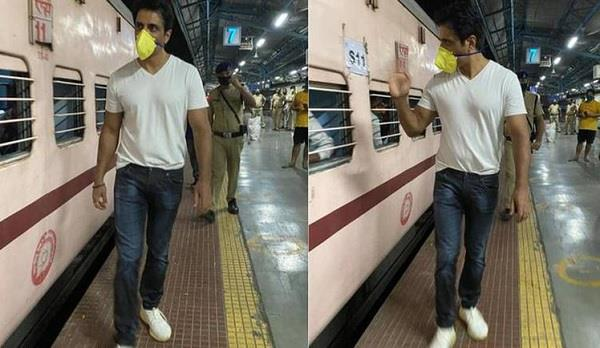 sonu sood sends one thousands migrants to uttar pradesh by train