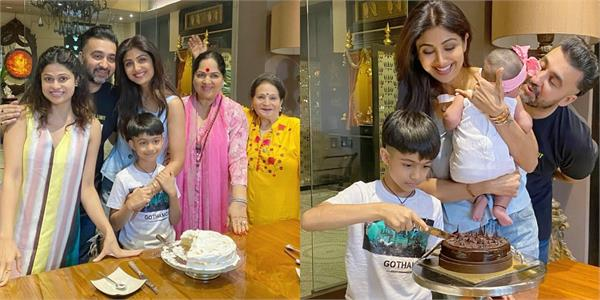 shilpa shetty celebrating birthday in lockdown with family see pictures