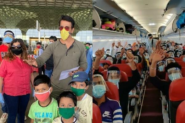 sonu sood airlifted 55 migrant workers from mumbai to dehradun