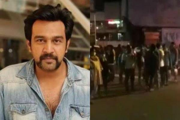 chiranjeevi sarja died people gather outside the hospital in bengaluru