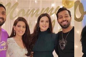 natasa stankovic enjoy her baby shower party with hardik pandya and family
