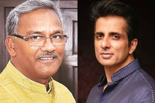 uttarakhand cm trivendra singh praised sonu sood for helping migrants