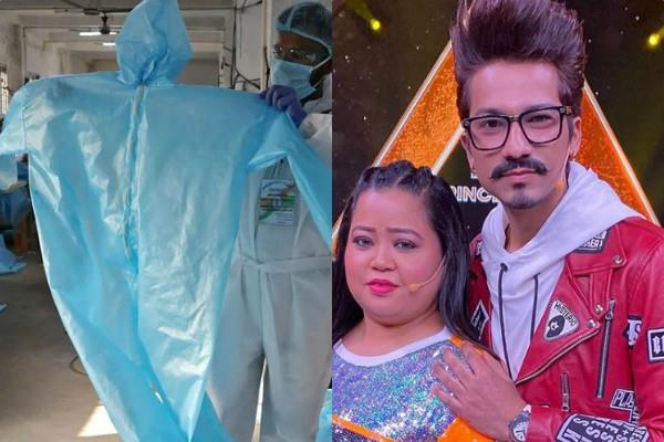 bharti singh and harsh limbachiyaa ordered ppe kit for her staff members