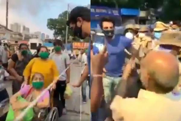 sonu sood send migrant workers to home from borivali station