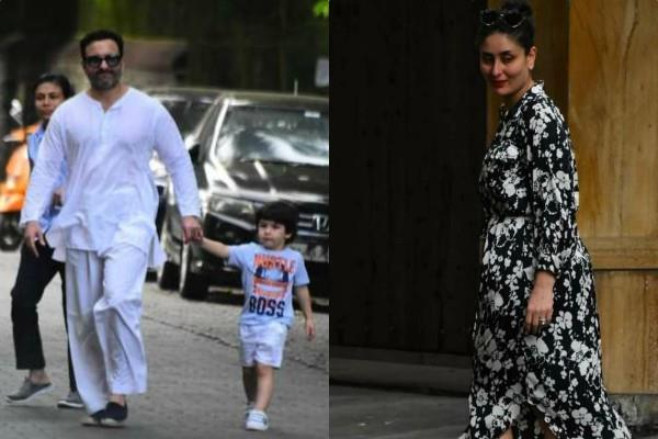 people trolled kareena saif for not wearing mask as they steps out with taimur