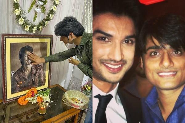 sushant friend sandip singh visit his residence and paid tribute to late actor