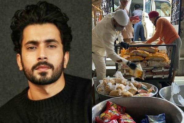 actor sunny singh contribution in the langar service in gurudwara