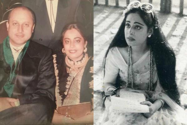 anupam kher shares throwback pics on kirron kher birthday