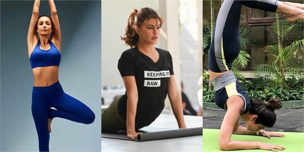 malaika arora to shilpa shetty yoga on international yoga day