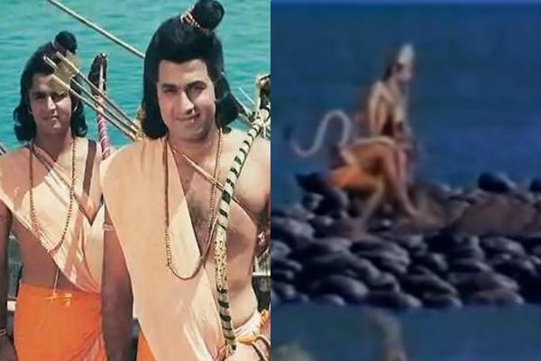 रामायण शो में समंदर के बीच के बजाय उमरगांव के स्टूडियो में शूट किया था यह सीन !