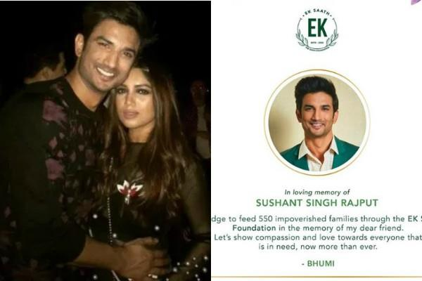 bhumi pednekar feed 550 impoverished families as tribute to friend sushant