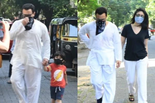 kareena kapoor khan saif ali khan spotted at bandra with son taimur