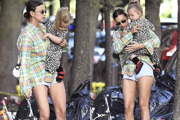 irina shayk spotted at new york streets with her cute daughter
