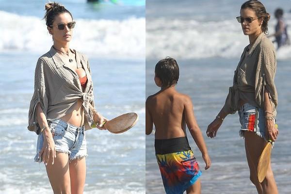 बीच किनारे Paddle ball खेलती नजर आईं एलेसेंड्रा एम्ब्रोसियो, बेटे के साथ दिखा मस्ती भरा अंदाज
