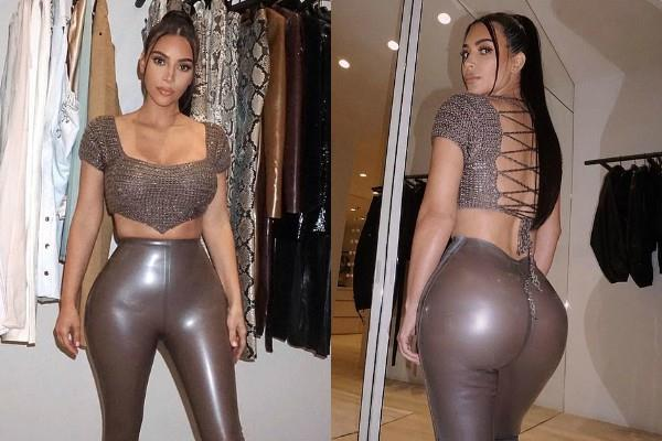 kim kardashian looked gorgeous