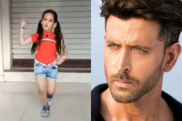 hrithik roshan shares a girl amazing dance video who dances his song