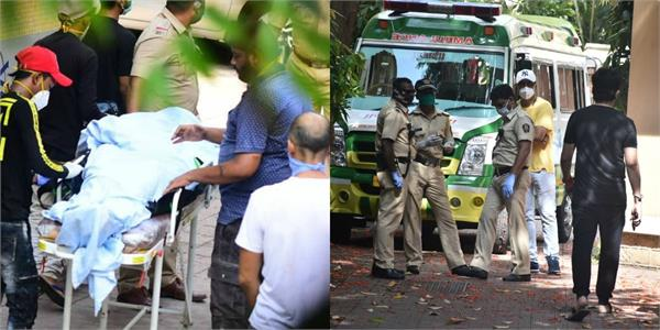 sushant singh rajput dead body photos police investigating the case