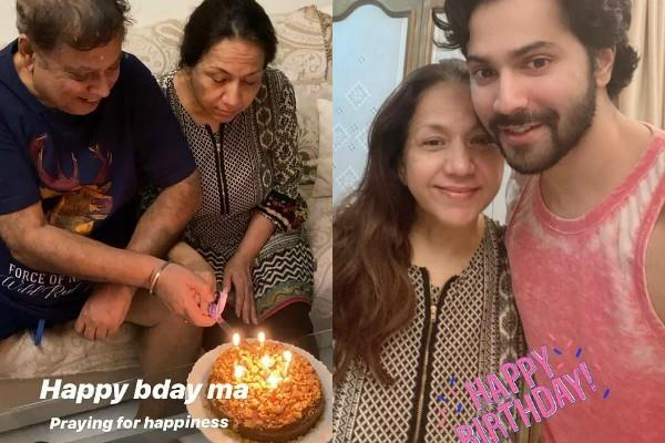 varun dhawan celebrates his mother birthday