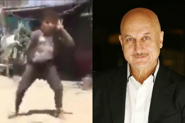 anupam kher impressed dance of village child said help me find it