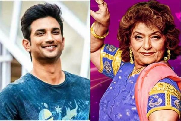 last time saroj khan posted for sushant singh on instagram