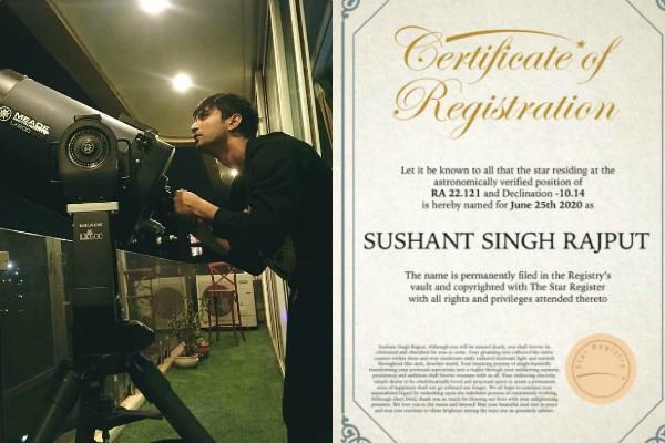 sushant singh rajput fan register a star in actor name