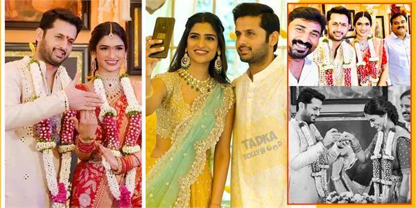 south actor nithiin gets engaged to shalini kandukuri in hyderabad