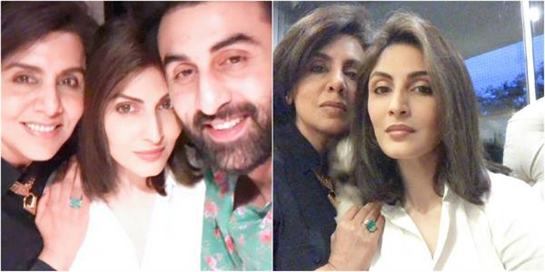 neetu kapoor celebrate her birthday with daughter riddhima and son ranbir