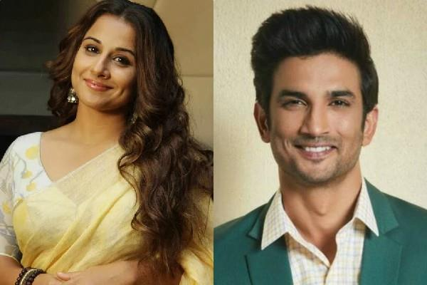 vidya balan spoke on sushant suicide and nepotism debate