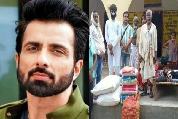 sonu sood provide ration to dashrath manjhi family