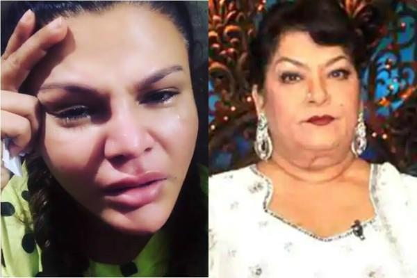 rakhi sawant cried remembering to saroj khan video viral