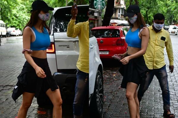 घर से बाहर निकलते ही पेपराजी के कैमरे में कैद हुईं दिशा पाटनी, सामने आईं कूल अंदाज की तस्वीरें