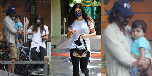 arjun rampal spotted with son and girlfriend gabriella demetriades
