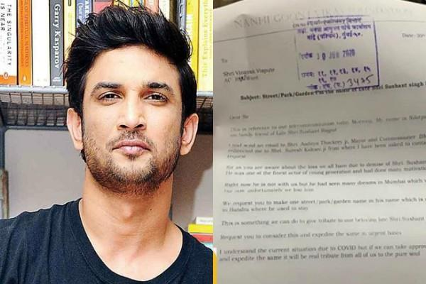 fan demand renaming road on the name of late sushant in mumbai
