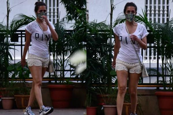 malaika arora clicked by paparazzi as she stepped out from home