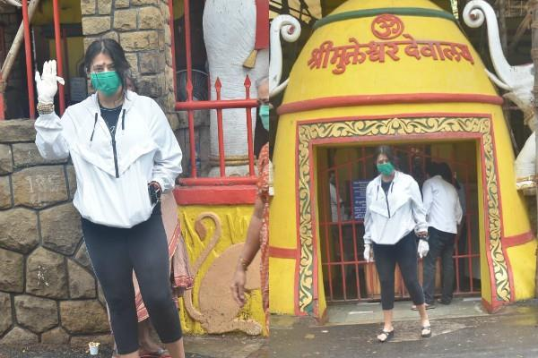 ekta kapoor reached shani dev mandir after a month of sushant s death