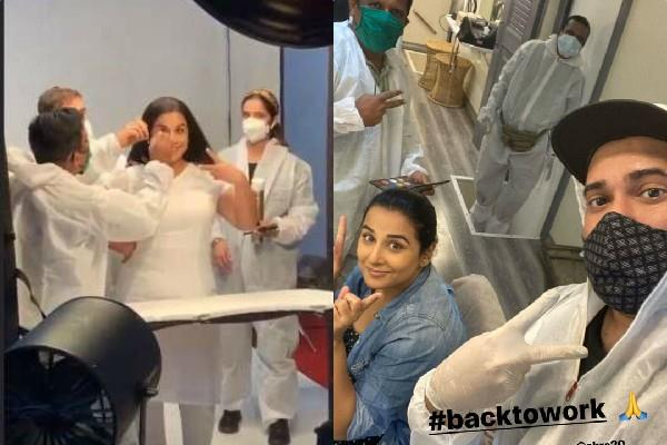 vidya balan returned to work after three months