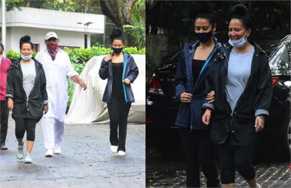 jackie shroff outing with wife ayesha shroff and daughter krishna shroff