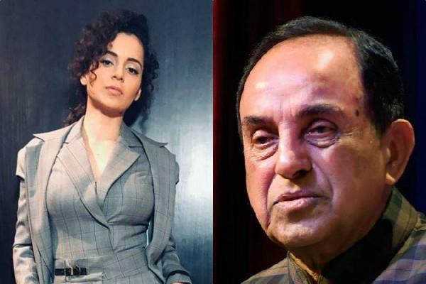 subramanian swamy will legally help kangana in sushant case