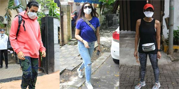 daisy shah abhishek and other stars spotted at bandra