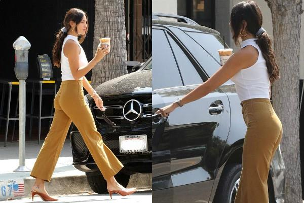 eiza gonzalez spotted outside the coffee shop