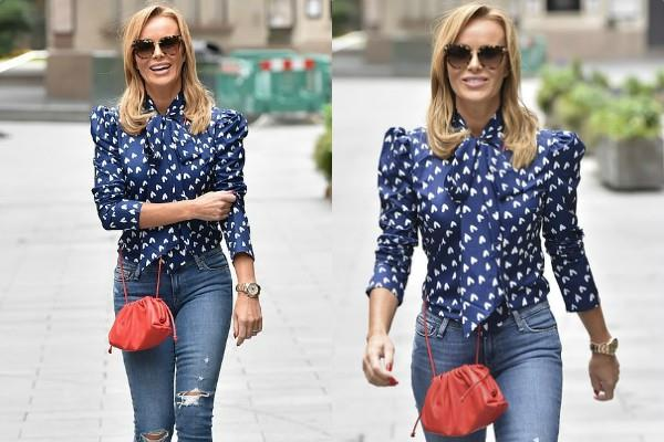 amanda holden looks gorgeous as she spotted outisde the radio studio