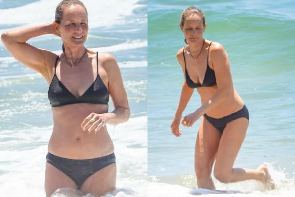helen hunt looked hot in black bikini
