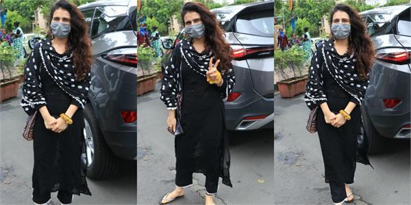 fatima sana sheikh spotted in bandra