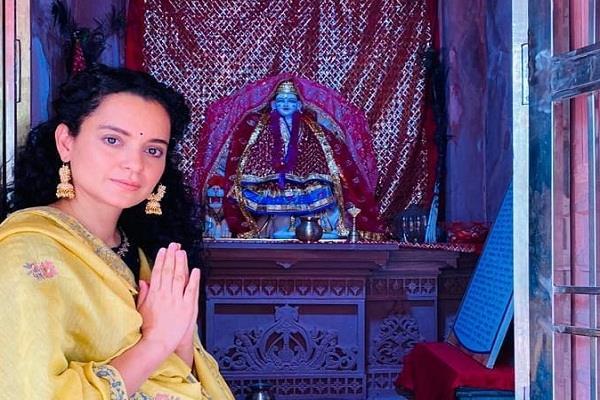 kangana ranaut visited kuldevi maa ambika temple of mandi