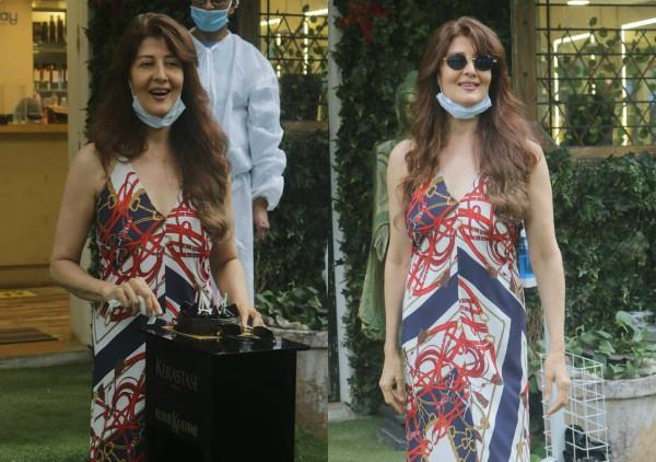 birthday girl sangeeta bijlani spotted at salon and cut the cake